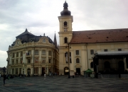 Town hall (left) / Main Square roman catholic church (right)